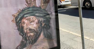 cartel semana santa parada autobus